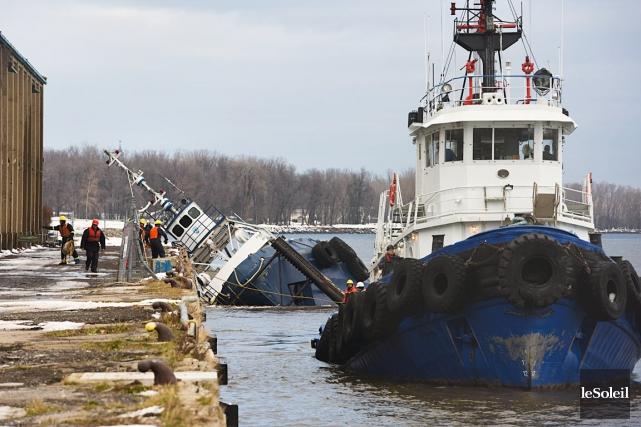 Le remorqueur Chaulk Determination a perdu 10 tonnes... (Photothèque Le Soleil)