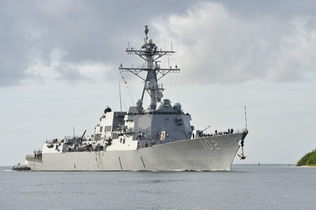 L'USS Sampson est basé à San Diego en... (Photo AFP)