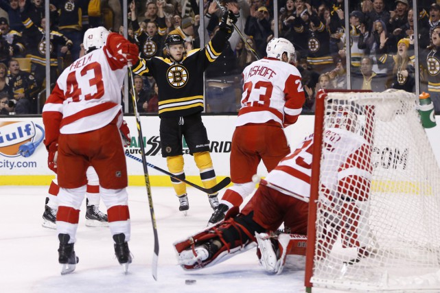 Carl Soderberg a inscrit un but et amassé une mention d'aide, et les Bruins de... (Photo USA Today Sports)