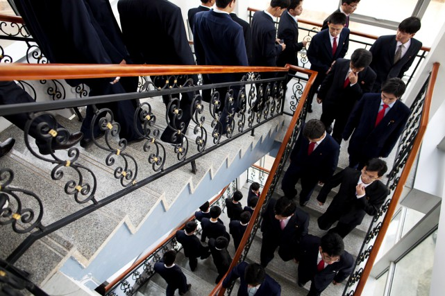 Des étudiants nord-coréens à la Pyongyang University of... (Photo David Guttenfelder, archives AP)