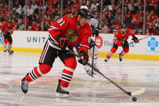 Marian Hossa... (Photo Dennis Wierzbicki, USA TODAY)