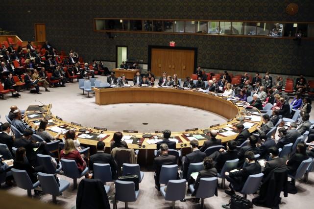 Le Conseil de sécurité doit se réunir à... (Photo Frank Franklin II, AP)
