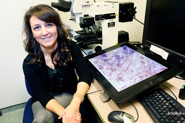 Francesca Cicchetti, chercheuse en neuroscience au CHUL, continue... (Le Soleil, Jean-Marie Villeneuve)