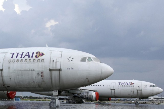 Un Airbus A340 de la compagnie Thai Airways... (Photo archives Reuters)