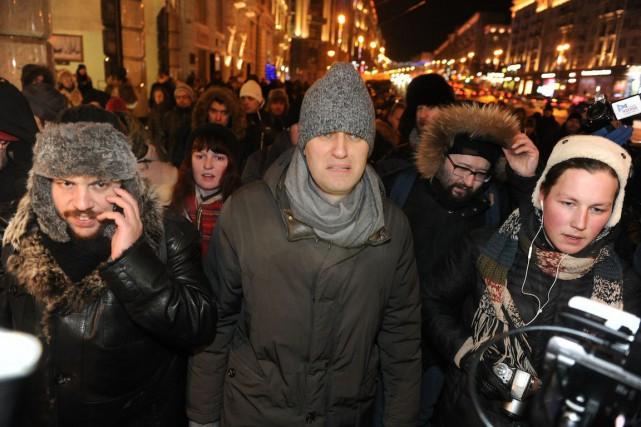 Assigné à résidence jusqu'au 15 février, Alexeï Navalny... (Photo Anton Belitski, AP)