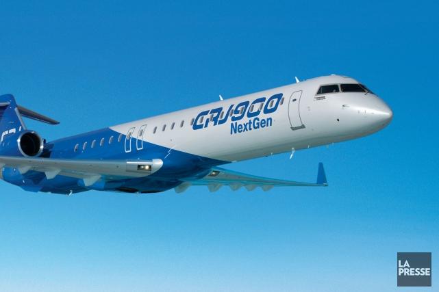 Une vente de 24 appareils biréacteurs régionaux de type CRJ900 NextGen de... (Photo fournie par Bombardier)