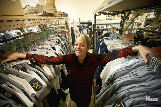Judy Jonker est costumière à Radio-Canada, notamment pour... (Photo Patrick Sanfaçon, La Presse)