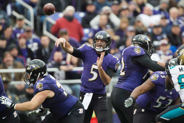 Des joueurs des Ravens de Baltimore... (Photo Tommy Gilligan, USA Today Sports)