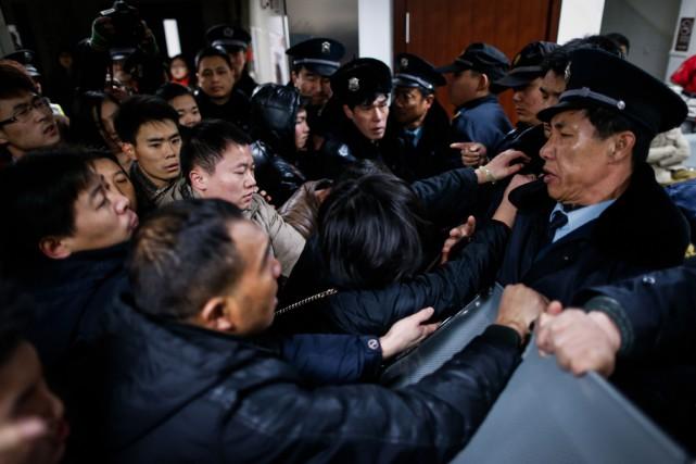 Les grands rassemblements en Chine font généralement l'objet... (Photo AFP)