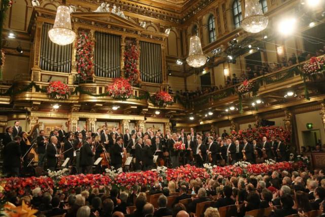 Le 75e concert du Nouvel An commémorait également... (Photo Ronald Zak, AP)