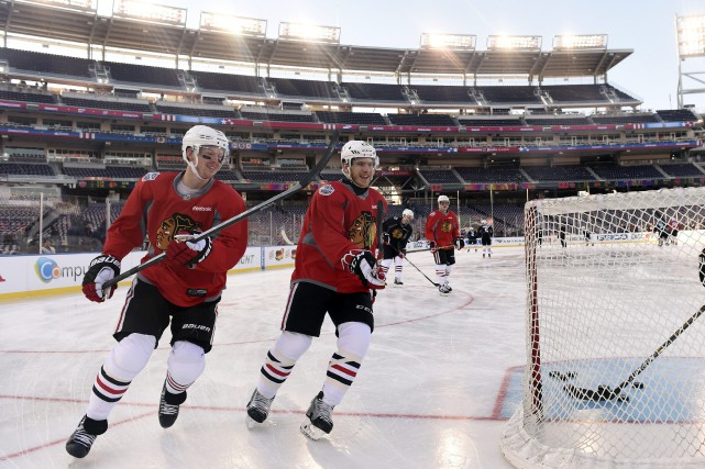 Il est impossible pour les Blackhawks de Chicago de ne pas avoir en tête Clint... (Photo Susan Walsh, AP)