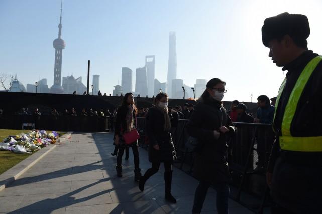 La police chinoise a démenti que la bousculade... (Photo AFP)