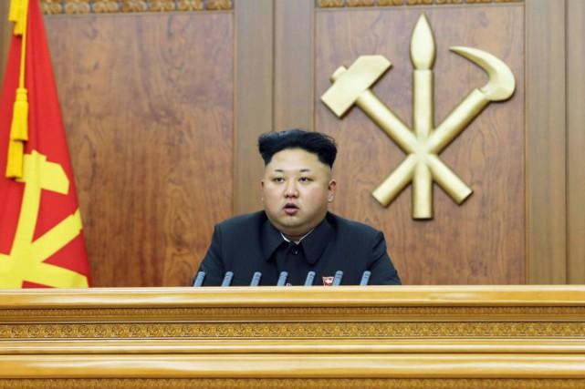 Le dirigeant nord-coréen Kim Jong-Un s'est dit prêt... (Photo KCNA, Reuters)