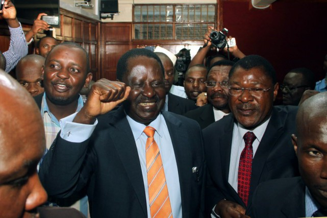 Le leader de l'opposition, Raila Odinga, s'est félicité... (Photo AFP)
