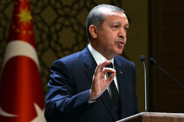 Habitué des déclarations à l'emporte-pièce, M. Erdogan s'est... (Photo Turkish Presidential Press Service, AP)