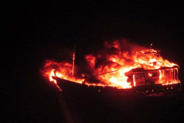 Selon le ministère, les passagers du bateau préparaient... (PHOTO MOD, AFP)