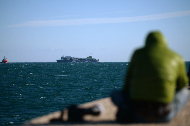 Le traversier, le Norman Atlantic, qui reliait la... (Photo FILIPPO MONTEFORTE, AFP)