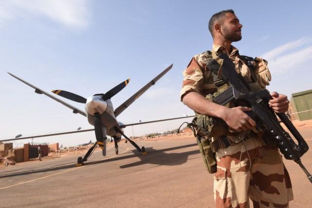 La base de Niamey, d'où décollent les drones... (PHOTO DOMINIQUE FAGET, AFP)