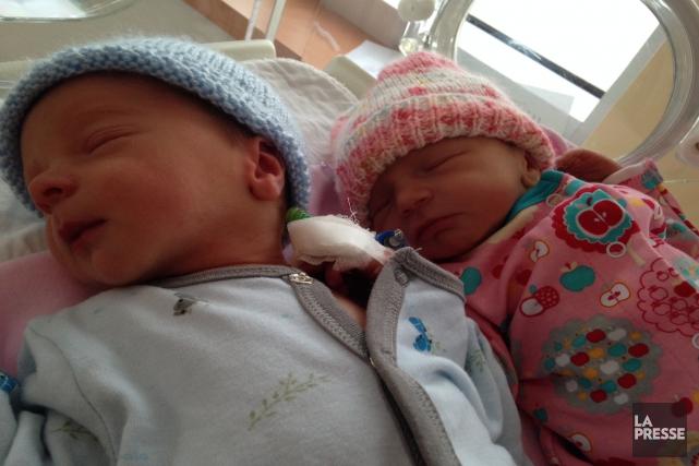 La région de Québec aura eu droit à deux bébés de l'année en ce début 2015,... (Photo fournie par le CHU de Québec)