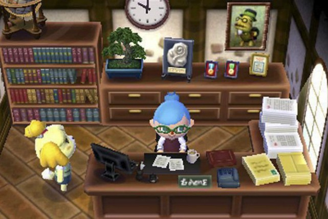 «Notre monde demande qu'on se tourne vers lui... (Photo tirée du jeu « Welcome to Animal Crossing », de Nintendo)