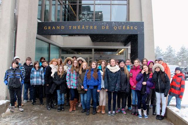 Les musiciens ont accueilli les élèves du profil... (Photo fournie par la commission scolaire des Navigateurs)