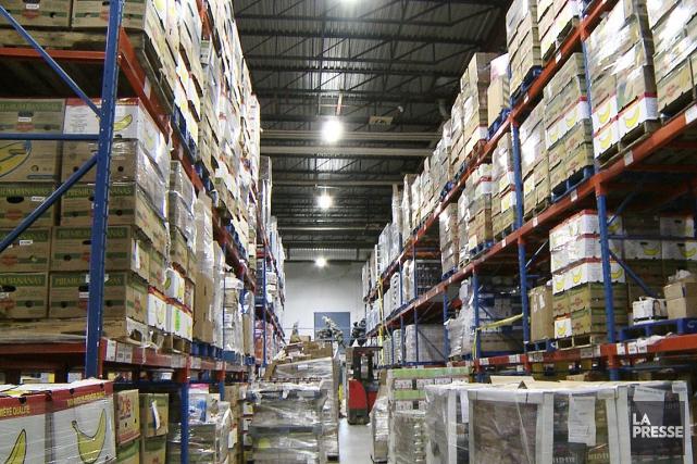 Un entrepôt à Moisson Montréal.... (Photo Ninon Pednault, archives La Presse)