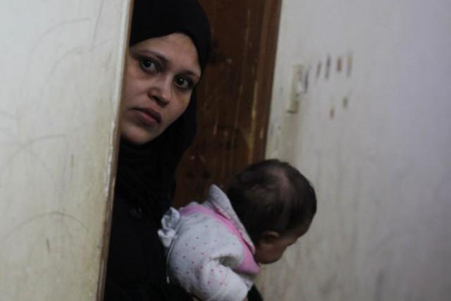 La mère de la victime, Sabah al-Houbi, 35... (Photo SAID KHATIB, AFP)