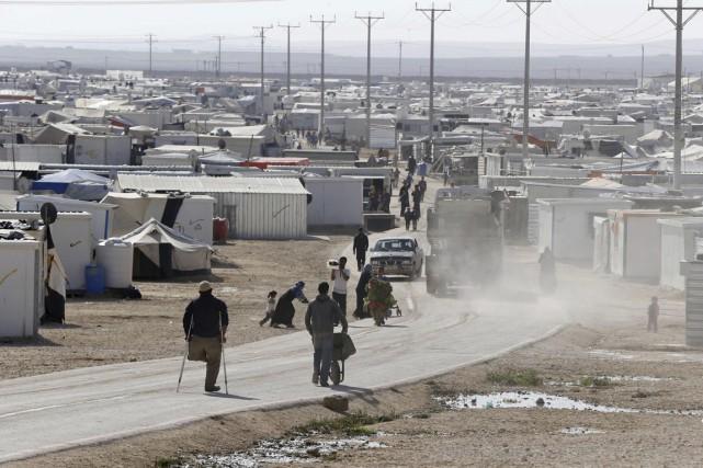 Créé en 2012 près de la frontière avec... (Photo Muhammad Hamed, archives Reuters)