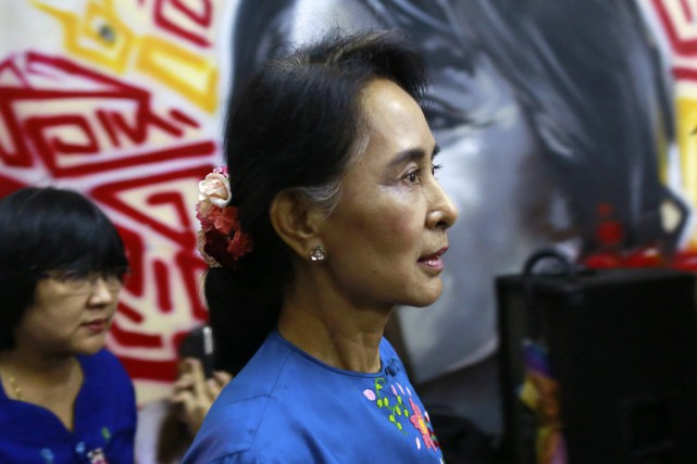 Aung San Suu Kyi... (Photo Archives Reuters)