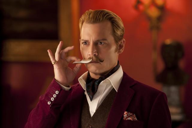 Johnny Depp dansMortdecai.... (PHOTO FOURNIE PAR LIONSGATE/SÉVILLE)