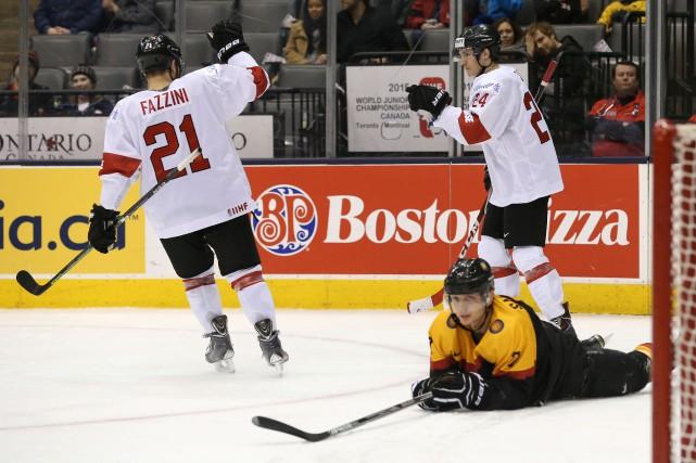 La Suisse s'est méritée un laissez-passer pour le prochain Championnat mondial... (Photo Rick Madonik, Toronto Star)