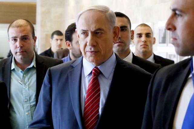 Le premier ministre israélien, Benyamin Nétanyahou.... (PHOTO GALI TIBBON, ARCHIVES AFP)