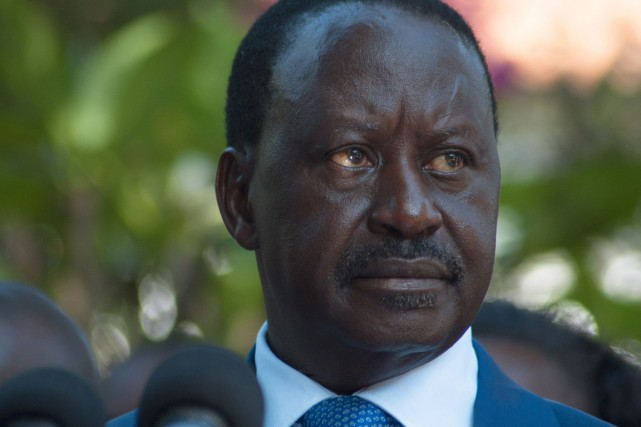 Raila Odinga, le principal leader de l'opposition au... (PHOTO WILL BOASE, ARCHIVES AFP)