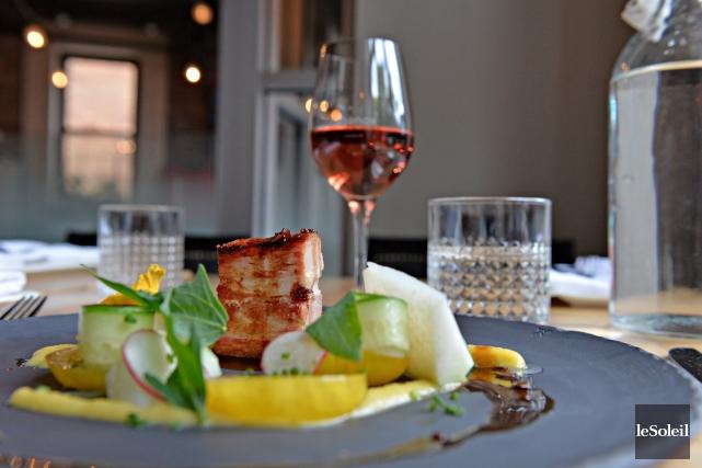 Le restaurant Légende, sur la rue St-Paul, à... (Le Soleil, Pascal Ratthé)