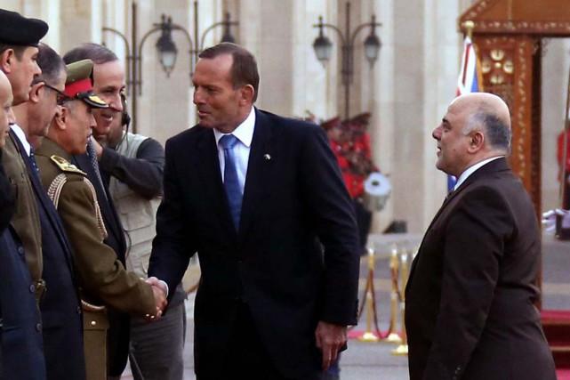 Lors d'une conférence de presse commune des deux... (Photo AFP)