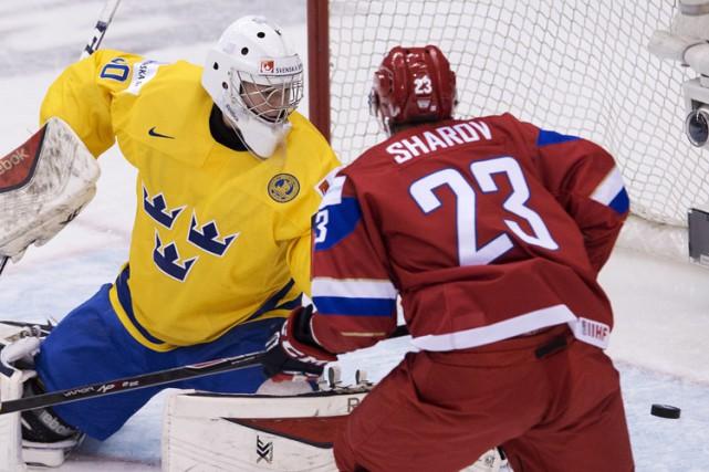 Alexander Sharov a inscrit deux buts lors du... (Photo: PC)