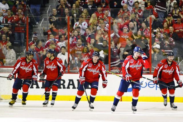 Alex Ovechkin a inscrit un but et une aide pour permettre aux Capitals de... (Photo: Reuters)