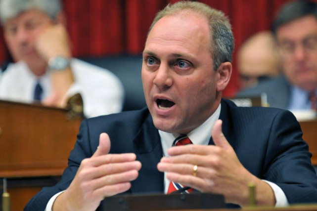 Le représentant de la Louisiane Steve Scalise a... (Photo ROD LAMKEY JR, AFP)