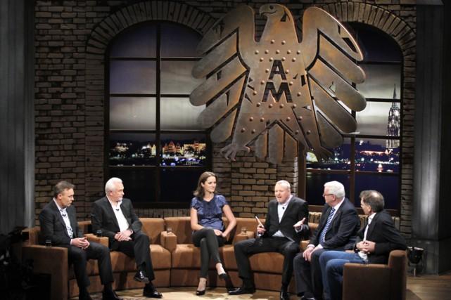 Dans l'émission allemande Absolute Mehrheit, des citoyens se... (Photo: Roberto Pfeil, DAPD)