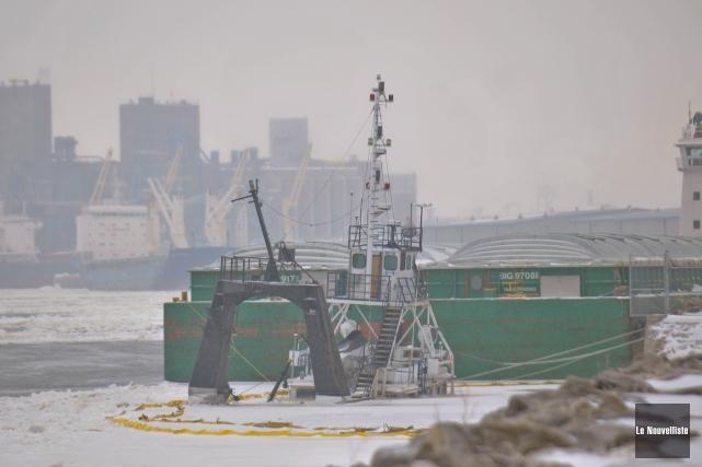 La présence de glace autour de l'épave pourrait... (Photo: Émilie O'Connor Le Nouvelliste)