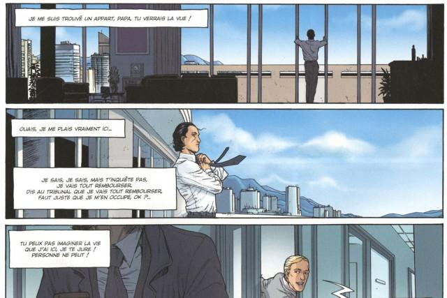 Les auteurs nous présentent le monde des «... (PAGE TIRÉE DE LA BD HEDGE FUND, DES HOMMES D'ARGENT)