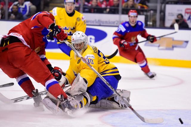 Le Russe Maxim Mamin s'est moqué du gardien... (Photo Frank Gunn, PC)