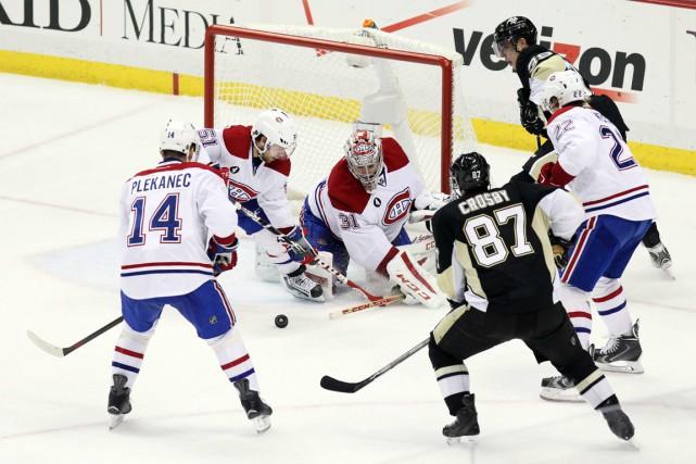 Si les joueurs du Canadien étaient si heureux... (Photo Matthew O'Haren, USA Today Sports)
