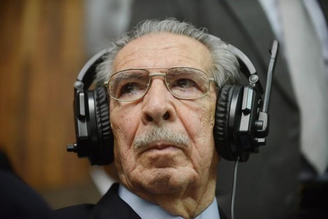 Efrain Rios Montt avait été reconnu responsable de... (PHOTO JOHAN ORDONEZ, ARCHIVES AFP)