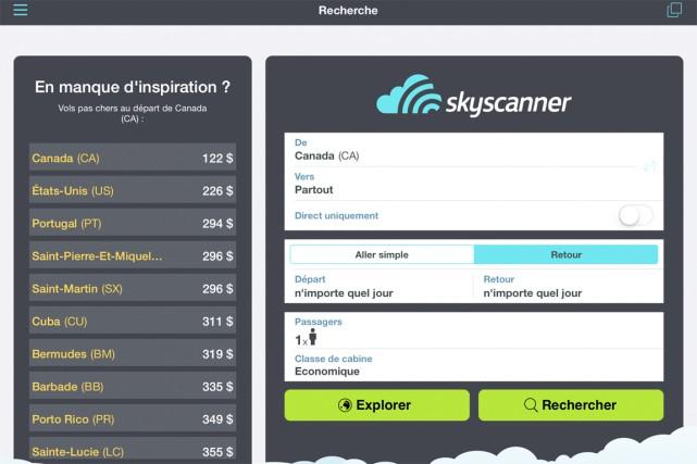 Chaque semaine, un journaliste teste une application mobile pour voyageurs. (CAPTURE D'ÉCRAN)