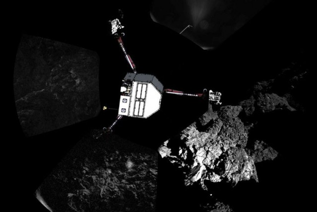 Le robot Philae... (PHOTO ARCHIVES AFP/ESA/CIVA)
