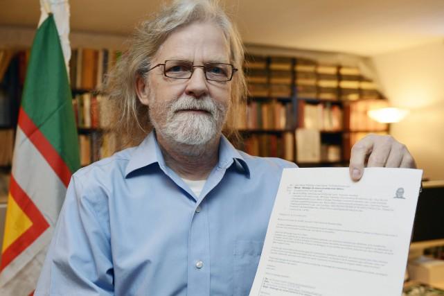 L'enseignant en sociologie, Jean-Marie Tremblay, retraité du Cégep... ((Photo Jeannot Lévesque))