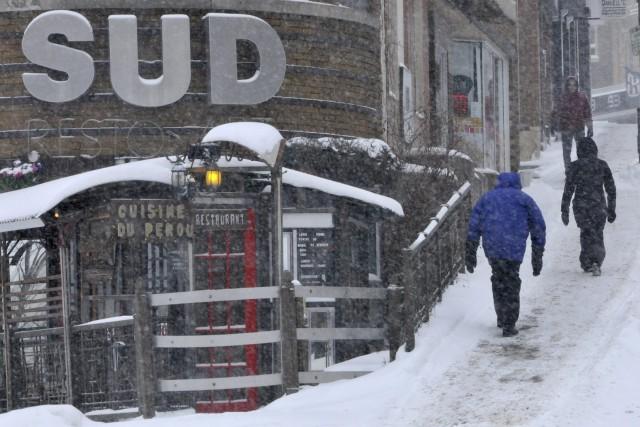Plusieurs centimètres de neige sont tombés sur le... ((Photo Michel Tremblay))