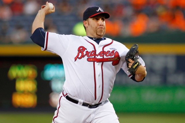 Aaron Harang a compilé une fiche de 12-12... (Photo Brett Davis, USA Today Sports)