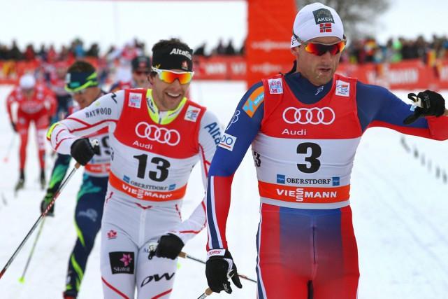 Alex Harvey (à gauche) a terminé deuxième de... (Photo Karl-Josef Hildenbrand, AP)